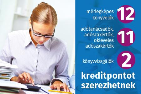 Könyvviteli szolgáltatást végzők kötelező továbbképzése államháztartási szakterületen 2021 - költségvetési szervnél foglalkoztatott mérlegképes könyvelők számára